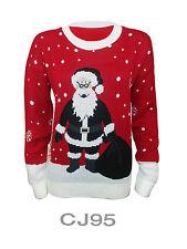 Women Men Jumper Novelty Christmas Xmas Knitwear Rudolph Penguin Retro Sweater