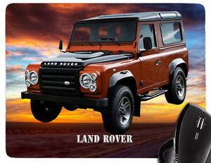 Mouse Pad With Motif: Land/Range / Rover Car Models Car Mousepad Hand Rest