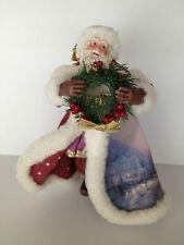 "Thomas Kinkade ""Christmas Journey's End"" Old World Santa Figurine Collection"