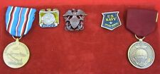 Lot World War II WW 2 MEDALS American Campaign US NAVY Good Conduct Civilian