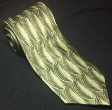 IRVINE PARK Green Slice Design Men's Neck Tie Necktie 100% Silk