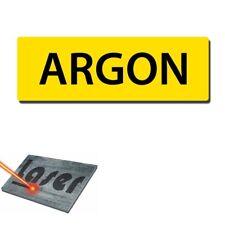 """Plaque gravée autocollante 30x10 cm """"Argon"""" fond jaune"""