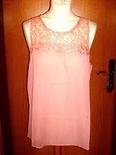 Festliches rosenholz-farbenes Damenshirt Gr. 44/46 neu