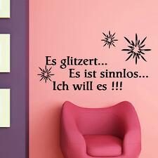 Wandtattoo Wandspruch Es glitzert Wandspruch Wandaufkleber Spruch Glitzer +212+