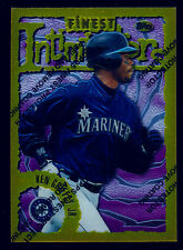 KEN GRIFFEY JR - 1996 TOPPS FINEST #135 GOLD PARALLEL RARE W/PEEL - MARINERS!