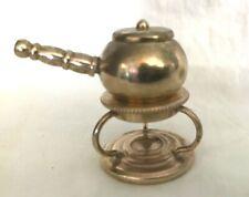 Miniature Brass Fondue Pot6 Pieces