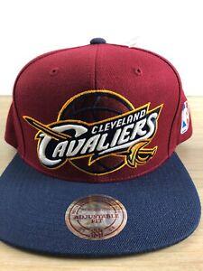 Cleveland Cavaliers Navy Maroon NBA Adult Mitchell & Ness Snapback Cap Hat New
