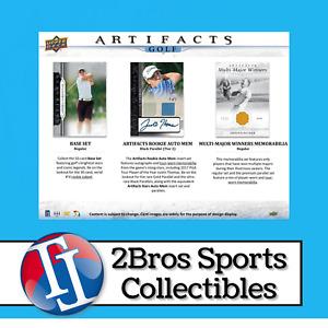 2021 Artifacts Golf 5 Hobby Box Half Case Break 5/12 2pm CST - Alexander Bjork