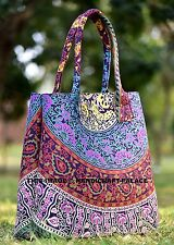 ETHNIC MULTICOLOR SHOULDER BAG INDIAN WOMEN'S MANDALA TOTE BAG HANDMADE PURSE