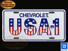 CHEVROLET USA-1 STARS AND STRIPES CAMARO CORVETTE NOVA LICENSE PLATE VANITY TAG