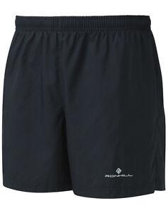 "RONHILL Mens CORE 5"" Sports Running SHORTS Lightweight Jogging Short Black LP£23"