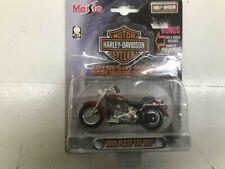 Harley Davidson 1-24 Die Cast Replica 2000 FLSTF Fat Boy Bar + Sheild Keyring
