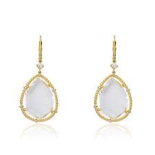 Riccova Sliced Glass 14K Gold Plated  Sliced Glass  Dangle Earring