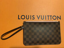AUTH* LOUIS VUITTON Neverfull MM/GM Clutch Rose Ballerine Damier *USED ONCE*