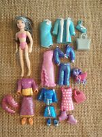 Polly Pocket Doll Glitter Lot All Sparkle Clothing Outfits Set 7-37