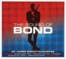 THE SOUND OF BOND - 60 JAMES BOND FAVOURITES - VARIOUS ARTISTS (NEW SEALED 3CD)