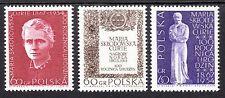 Poland - 1967 Marie Curie - Mi. 1777-79 MNH