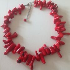 HUGE NATURAL RED BRANCH CORAL  NECKLACE