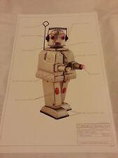"""Stampa #3 ROBOT JAPAN TIN classico dello spazio 17""""x11"""" Ray Gun Mr Robot Alpi 1955 Nuovo di zecca"""