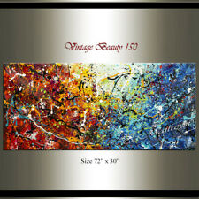 Multicolored Jackson Pollock Style - Abstract painting , Contemporary wall art.
