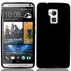 BLACK FLEX GEL TPU SOFT GRIP SKIN CASE COVER FOR HTC ONE MAX