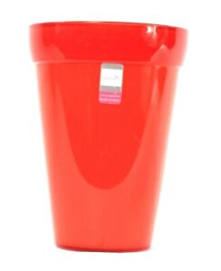 1 Count Crescent Garden Red Plastic Planter Flower Pot Made In Italy