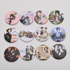 12pcs Anime Black Butler Badges Pins Bag Sebastian Ciel Phantomhive Buttons