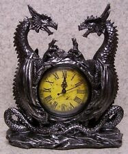 Clock Medieval Dragon Star table shelf fireplace mantel desk NEW