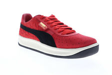 Puma Gv Special Lux 36928101 Mens Red Suede Lace Up Low Top Sneakers Shoes
