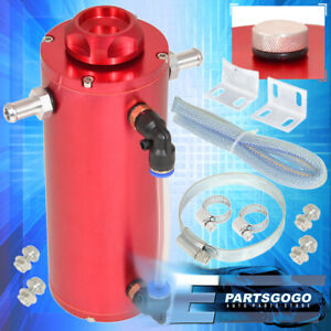 For Toyota 350ML Red Over Flow Catch Tank Radiator Coolant Reservoir Aluminum