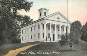 HINSDALE, Massachusetts MA    TOWN HALL   Berkshire County   c1910's Postcard