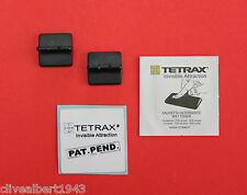 "TETRAX Replacement ""X VENT FIN"" x 2 in Black for X-WAY & GEO ""NEW"""