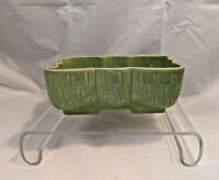 "Vintage UPCO Ungemach Pottery Co USA Drip Glaze Green Mid Century Planter 105-7"""