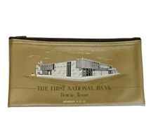 The First National Bank Bowie Texas Zippered Bank Bag