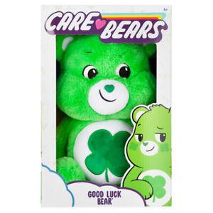 "Care Bears Good Luck Bear Soft Toy 14"" Green Medium Plush"