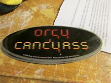 Orgy Sticker Collectible Rare Vintage 1999 Metal Window Decal