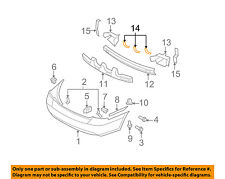 HYUNDAI OEM 06-11 Accent-Bumper Cover Mounting Kit 866351E050