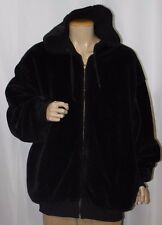 Men's Fur Hooded Casual Winter Jacket Thicken Hoodie Coat Reversible Sweater XXL