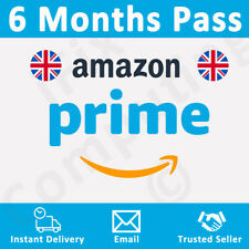 Amazon Prime 6 Months Pass 🔥 Prime Delivery, Video & Music 👑 UK & Ireland Only