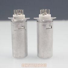 7pin ceramic tube socket for 6Z4 EF92 EAA91,with aluminum shield lot*10