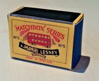 LESNEY MATCHBOX MOKO NO.5A LONDON BUS 52mm CUSTOMISED DISPLAY/STORAGE BOX ONLY