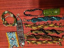 Beaded bracelets lot.  10 pieces