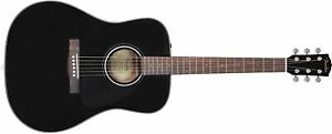 Fender CD-60 Dreadnought V3 - Black: Acoustic Guitar