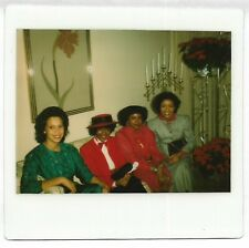 Vintage 80s Kodak Instant PHOTO Group Black Women at Special Event