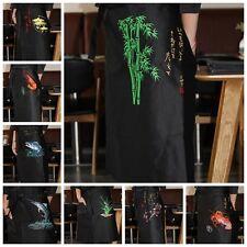 Sushi Chef Apron Japanese Restaurant Bar Work Uniform Waist Embroidery Unisex