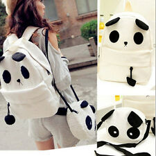Fashion Women Girl Cute Panda Schoolbag Shoulder Backpack Bookbag Handbag Set 0T