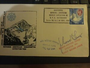 1983 Kathmandu Nepal Signed Expedition Postcard Everest