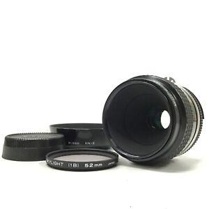 Nikon Ai Micro-Nikkor 55mm f/3.5 Prime Macro MF Lens w/Cap,Lens Filter, Hood[TK]