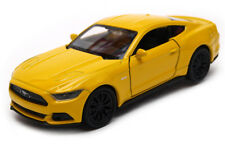 Ford Mustang GT 2015 Model Car Diecast Metal Scale 1:36 Opening Doors YELLOW
