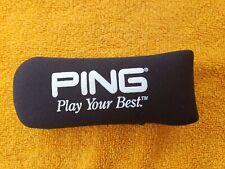 Ping Putter Head Cover Play Your Best Headcover Neoprene Blade Slip On Black NEW